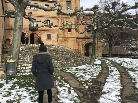 Un paseo por la nieve en Codés (Navarra)